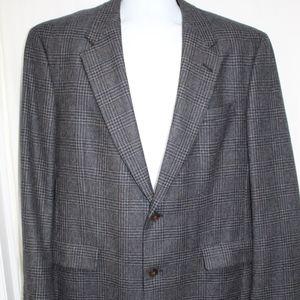 Burberry Wool Blazer Glen Plaid 2 button VGC 43L